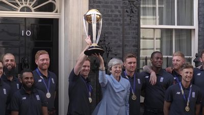 Theresa May meets England cricket team after World Cup win