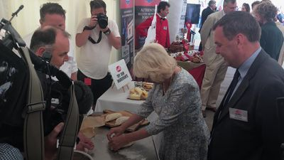 The Duchess of Cornwall makes a Cornish pasty