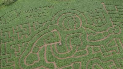 Wistow Maze marks 50th anniversary of moon landings with astronaut layout