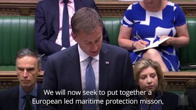 Jeremy Hunt announces new European-led maritime mission