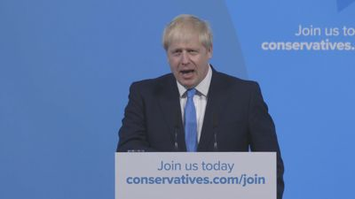 Boris Johnson pays tribute to outgoing leader Theresa May