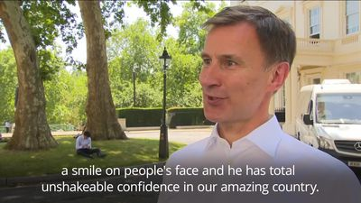 Jeremy Hunt: Boris will be a great Prime Minister