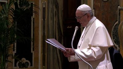Pope warns energy bosses of global destruction without fuel shift