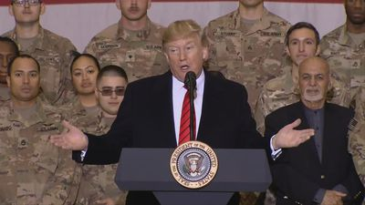 Trump makes secret Afghanistan trip