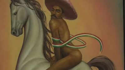 Emiliano Zapata in heels causes stir in Mexico