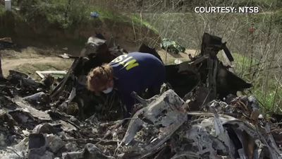 NTSB sifts through wreckage at Kobe Bryant crash site