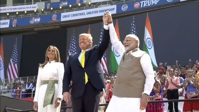'Guest is God': Crowds gather to greet Trump in India