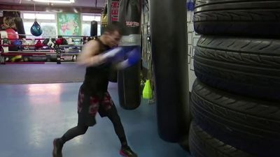 Afghan refugee dreams of boxing in Olympics