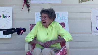 104-year-old veteran's drive-by birthday celebration
