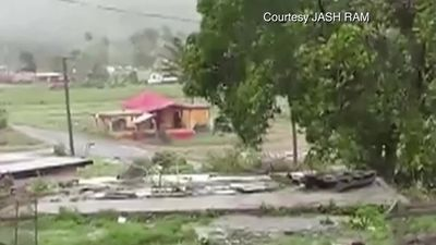 Fiji battered by tropical cyclone