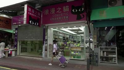 Protests, virus kill businesses on Hong Kong border