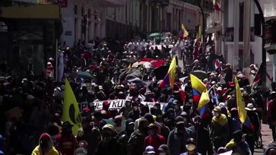 Ecuador protests flare up on the streets