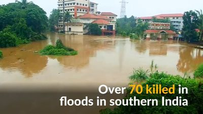 Worst flood in a century kills over 70 people in southern India
