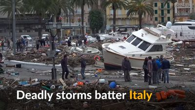 Violent storms pound Italy
