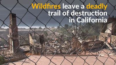 Deadly California wildfires force people to flee