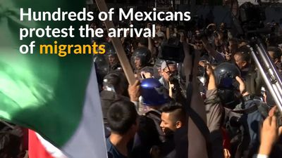 Mexicans protest arrival of Central American migrants