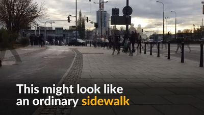 Poland aims to fight smog with pollution-reducing sidewalks