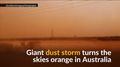 Skies turn orange as dust storm sweeps across southeast Australia