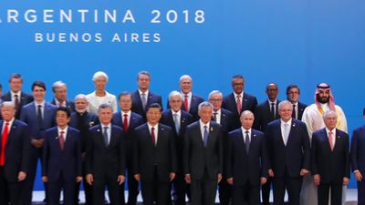 World leaders gather at the G20 amid tensions