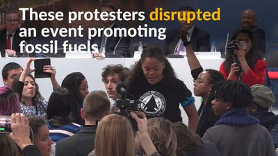 Protesters disrupt U.S.-sponsored fossil fuel event at climate talks