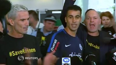Warm welcome for freed Bahraini soccer player