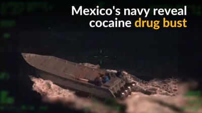 Mexico's navy seizes boat carrying 1,400lbs cocaine