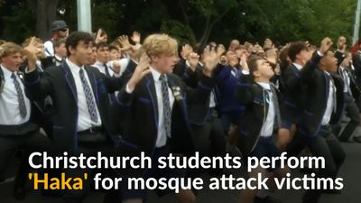 New Zealand students perform Haka in tribute to shooting victims