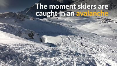 Skiers caught in avalanche