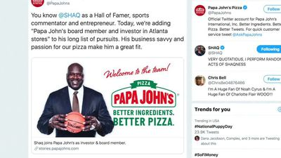 NBA star 'Shaq' O'Neal joins Papa John's board