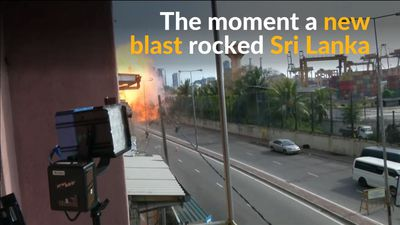 New blast in Sri Lanka caught on camera