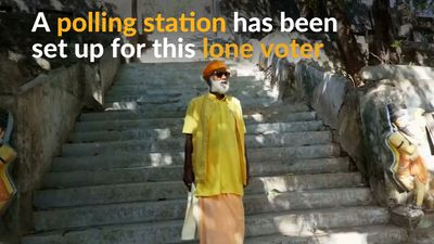 Lone voter casts only vote deep in Indian jungle