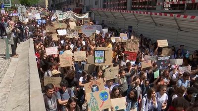 Global school children strike over climate change
