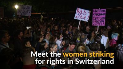 Swiss women strike for equal pay and rights