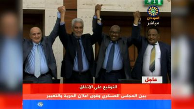 Sudan's military council, opposition coalition reach political accord