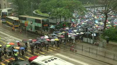 Protesters show up for 11th week of rallies in Hong Kong