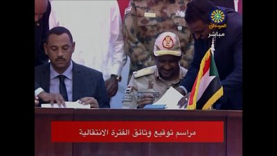 Sudanese factions sign accord on transitional government