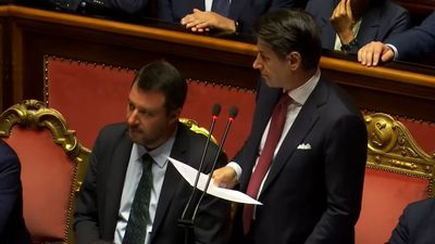 Italy's Conte makes an angry exit from his PM role