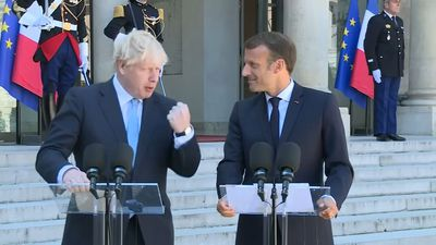 Macron meets Johnson, while Pound recovers slightly on backstop hopes