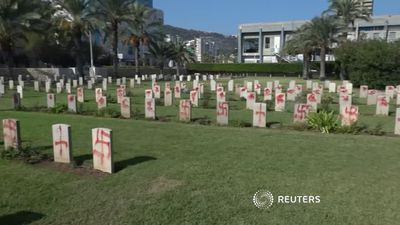 Graves desecrated at Israeli Commonwealth cemetery.