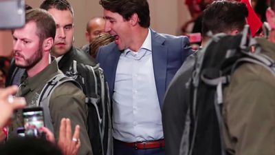 Canada's Trudeau forges ahead with campaign despite security threat