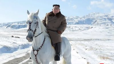 North Korea's Kim rides white stallion ahead of 'great operation'