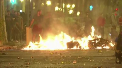 Protests set Barcelona ablaze for a third night