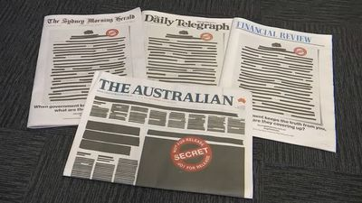 Australian papers redact front pages in protest