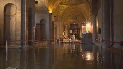 Fears for Venice's basilica after devastating flood