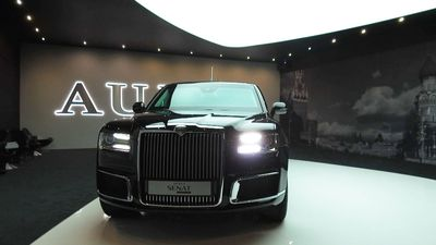Putin's Aurus Senat limo unveiled at Moscow Auto Expo for the first time!