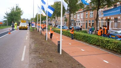 Ride along the world's first-ever plastic street