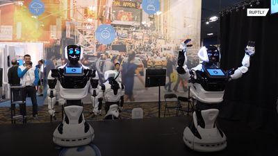 Ding Dong! Customer service and delivery robots displayed at Las Vegas Consumer Electronics Show