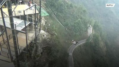 'Regret medicine' offered to visitors scared to take the plunge at Chinese theme park