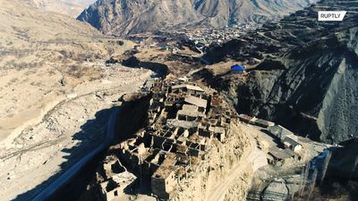 Take in the breathtaking view of this ancient Avar mountain village in Dagestan