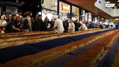 273-metre long tiramisu breaks world record in Milan